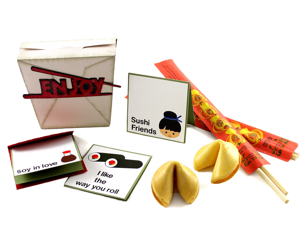 Sushi Cards and Take Out Gift Box