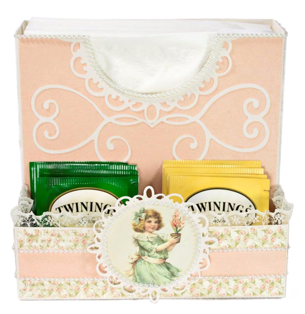 Napkin and Tea Box by Tara Brown