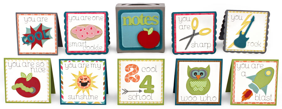 Lunch Box Notes / Teacher's Note Cards and Card Box