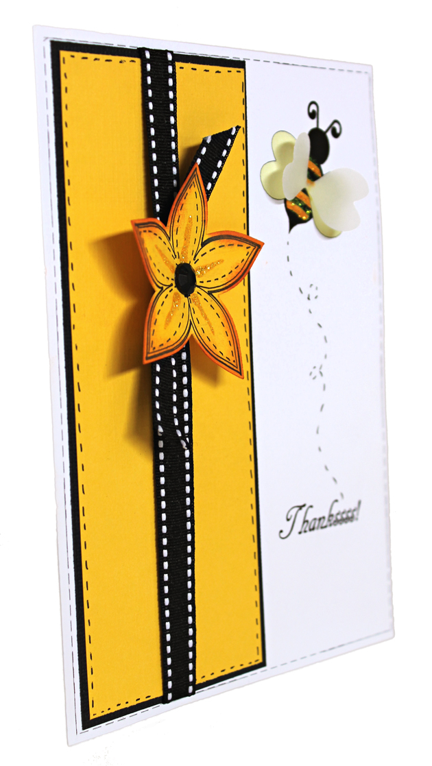 Thanks Bee and Flower Card by Angie Contreras for Pazzles Craft Room