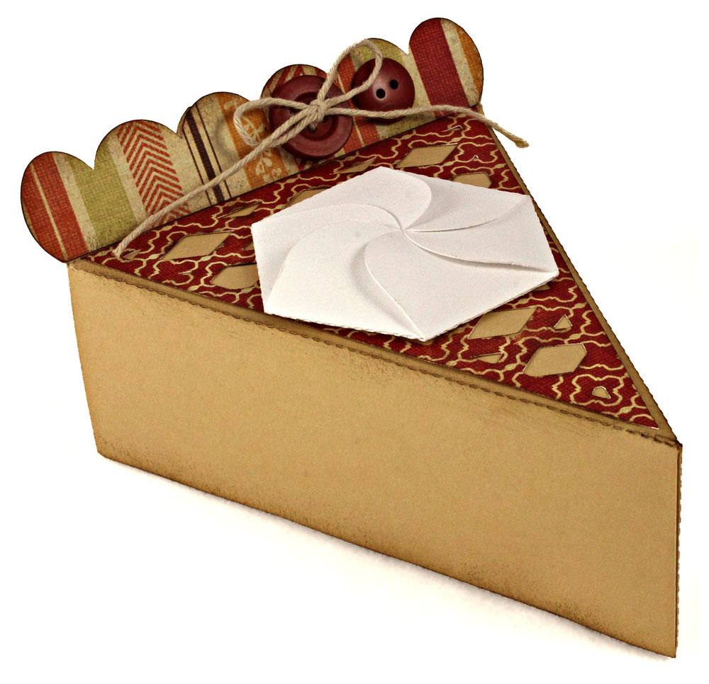 Thanksgiving Blessings Apple Pumpkin Pie Box Lattice Top
