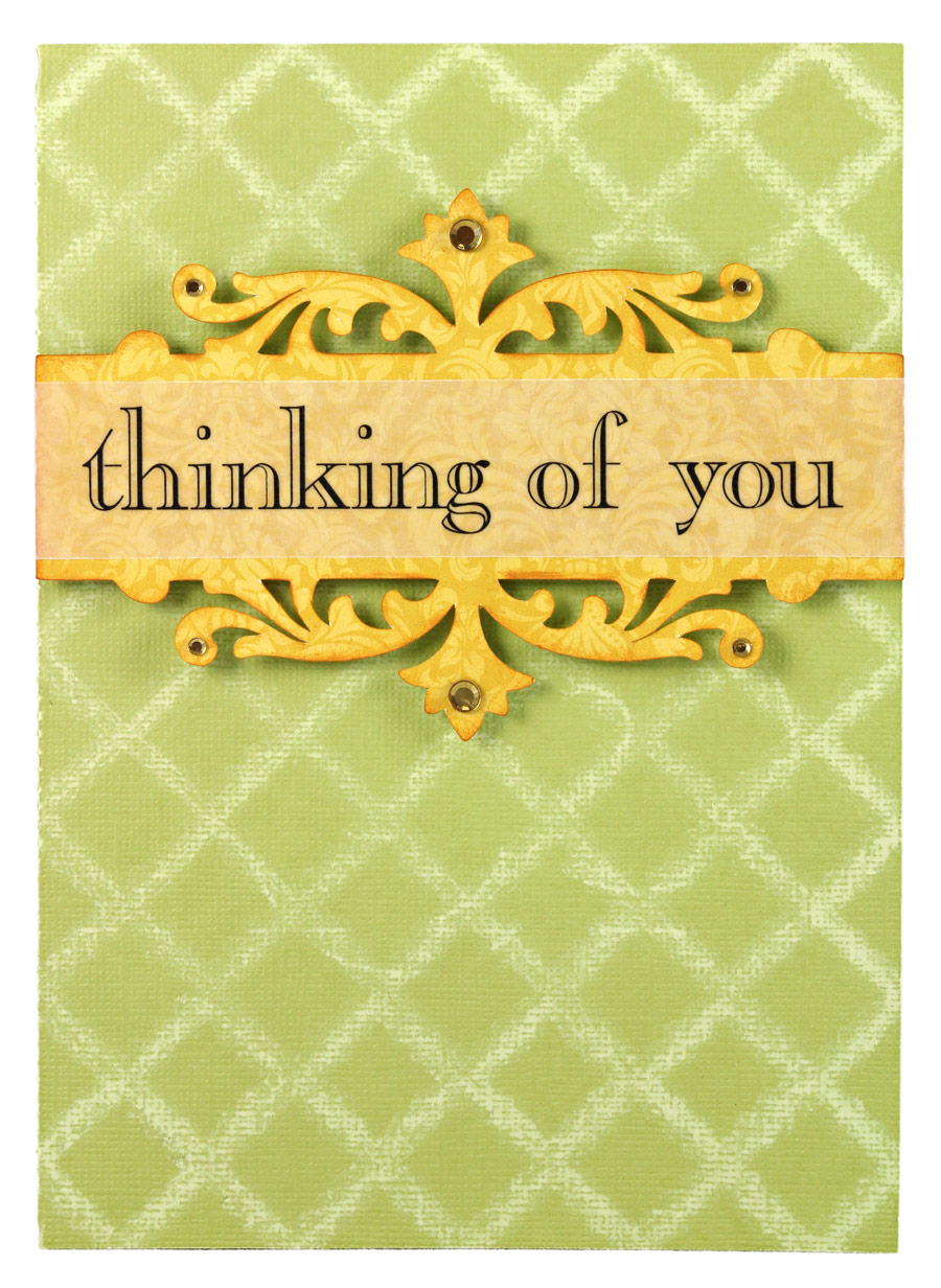 Thinking of You Card with Distressed Background - Pazzles ...