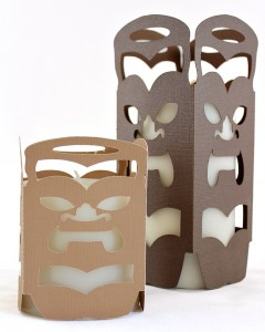 Tiki Candle Holders / Luminaries