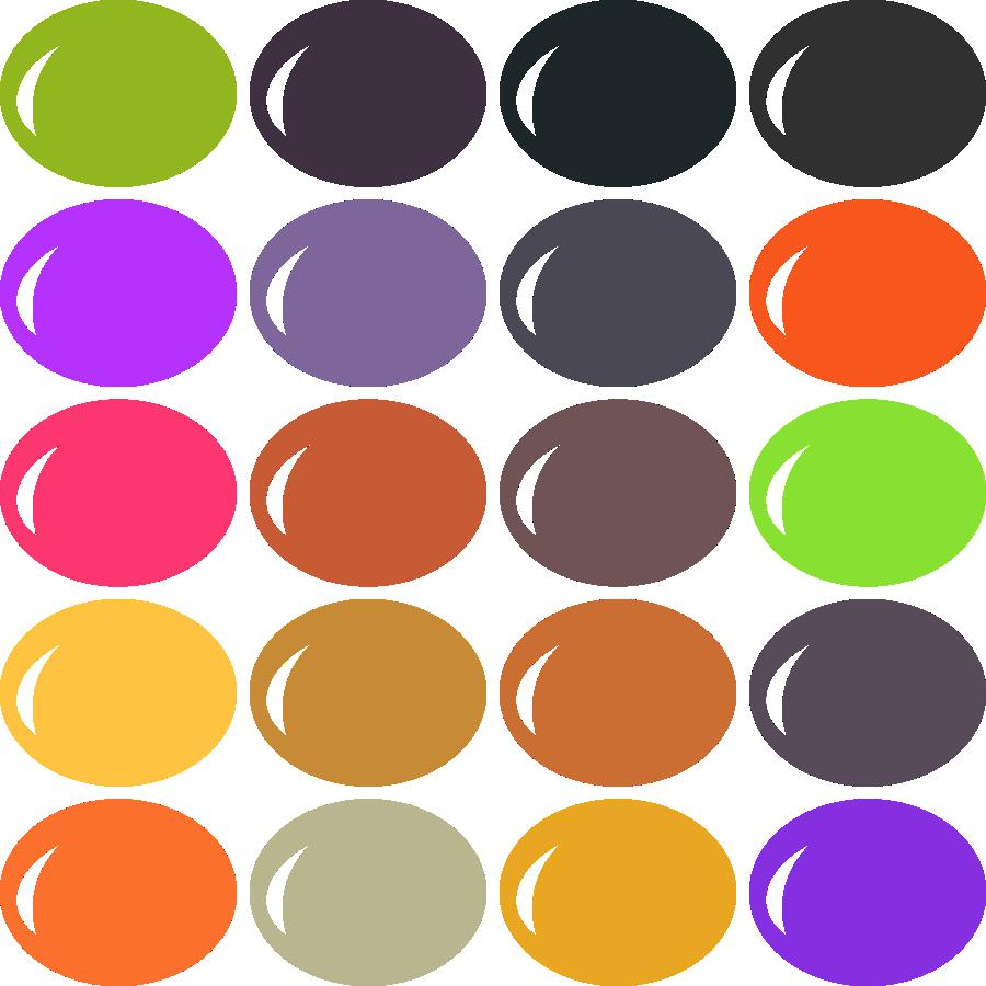 Traditional Halloween Color Palette