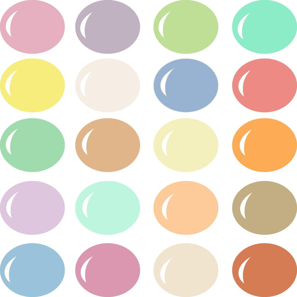 Pazzles Trendy color palette for Pazzles InVue software