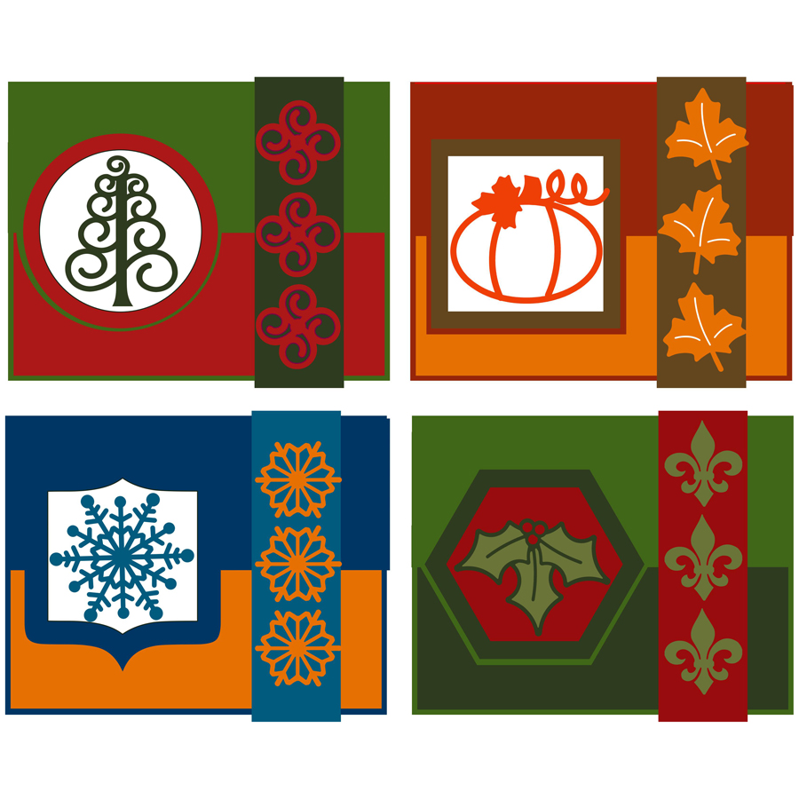 Tri-Fold Holiday Cards 900
