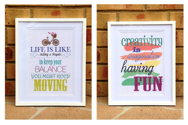 Life Is Like A Bicycle Framed Décor Pazzles Craft Room Dining Wall Quotes Decor Signs Art Quote Sign The Painted Hive