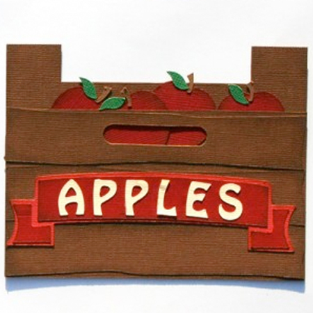 Apple Crate Shaped Card