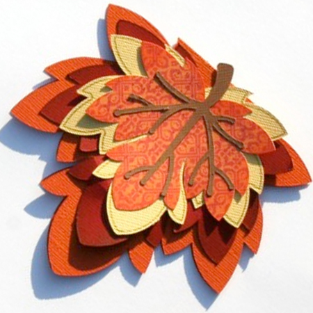 Leaf Shaped Card