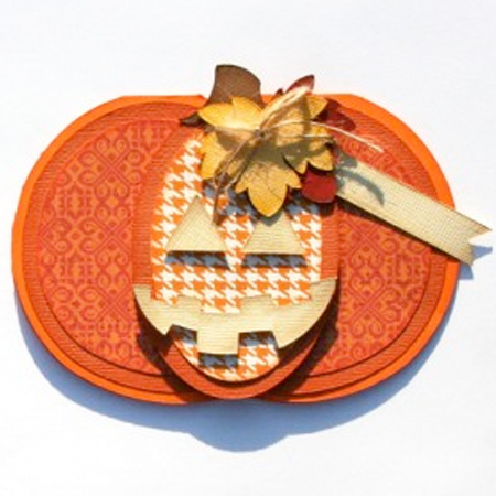 Pumpkin Shaped Cards