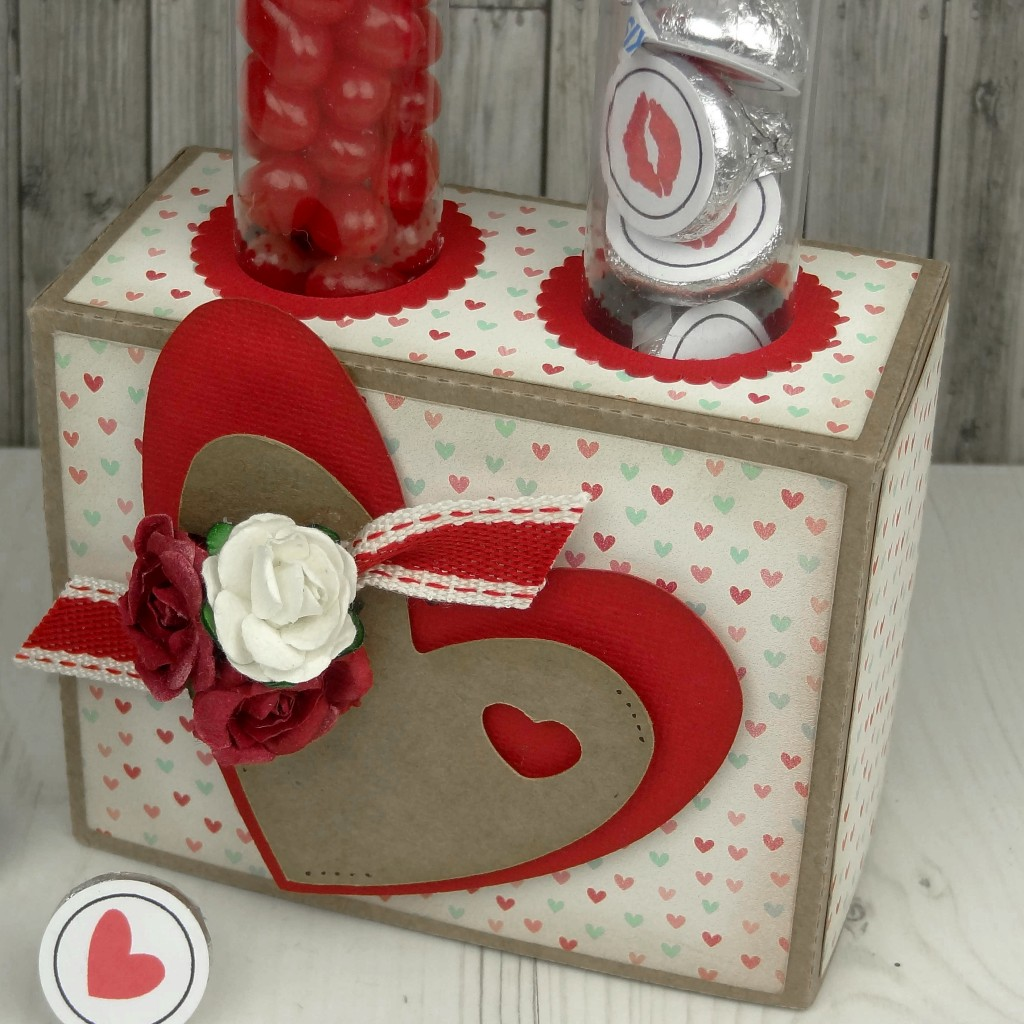 Valentine Candy Tube and Candy Tube Stand
