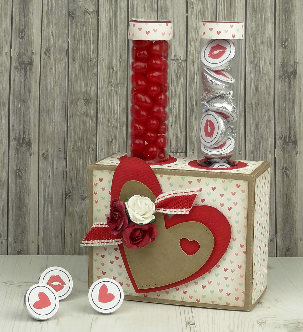 Valentine Candy Tubes with Candy Tube Stand