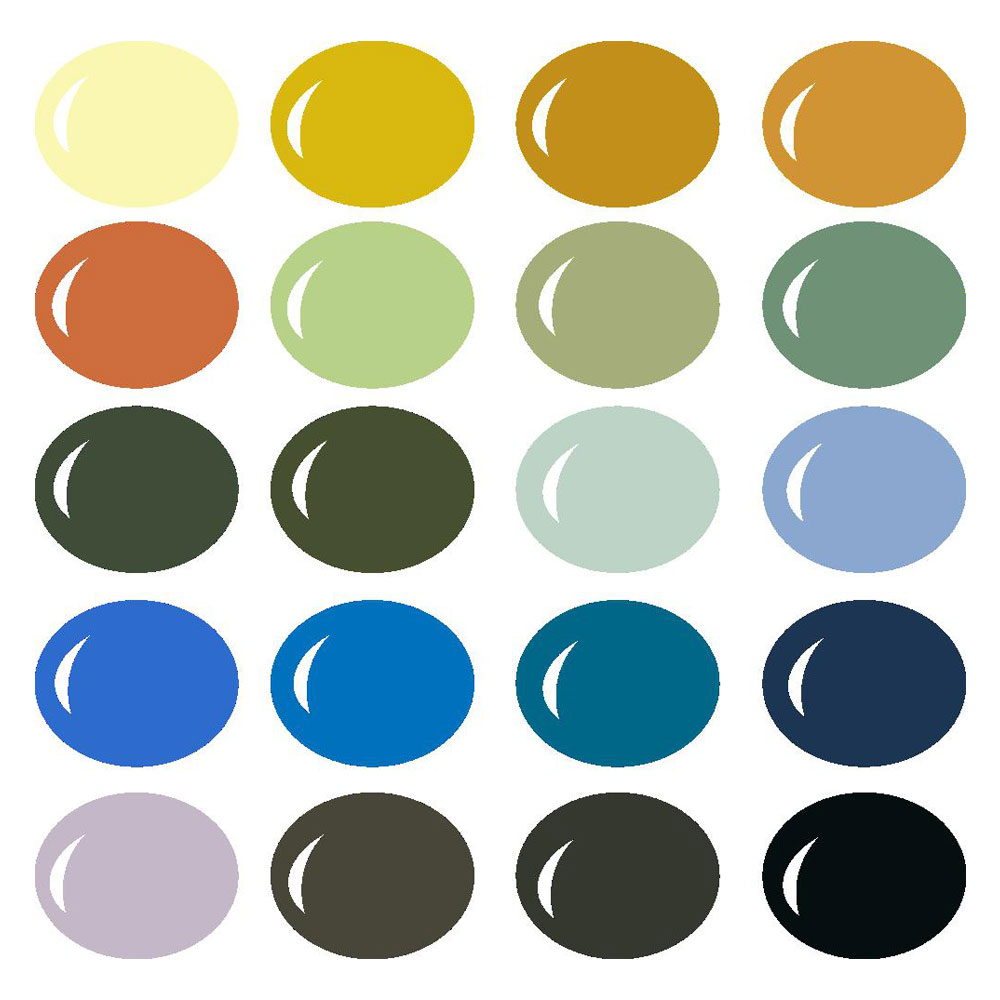 Van Gogh Inspired Color Palette