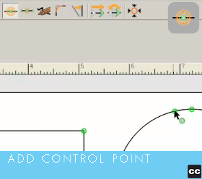 Move Point Toolbar: Add Control Point