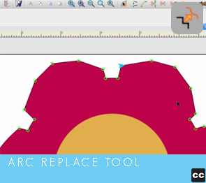 Move Point Toolbar: Arc Replace Tool