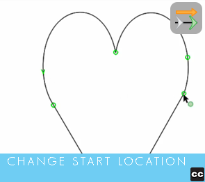 Move Point Toolbar: Change Closed Path Start Location