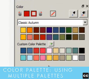 Color Palette: Using Multiple Palettes