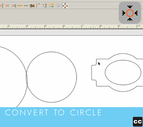 Move Point Toolbar: Convert to Circle
