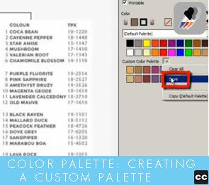 Color Palette: Creating Custom Palette-Basic