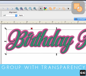 Selection Tool: Group With Transparency