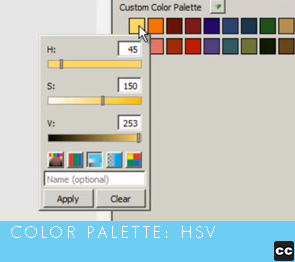 Color Palette: HSV