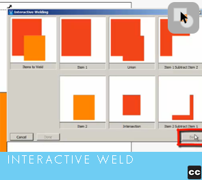 Selection Tool: Interactive Weld