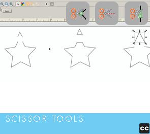 Move Point Toolbar: Scissors