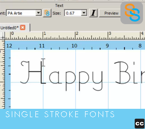 Single Stroke Fonts