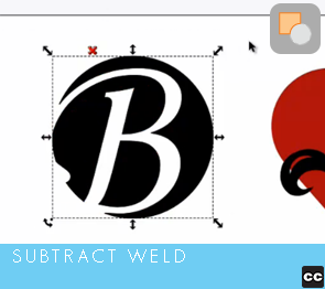 Selection Tool: Subtract Weld