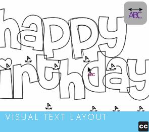 Visual Text Layout