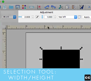 Selection Tool: Width/Height