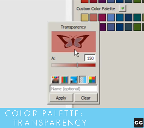 Color Palette: Transparency