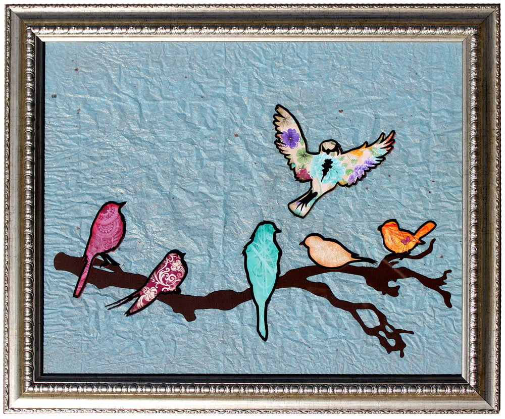 Vinyl Birds Home Decor Frame