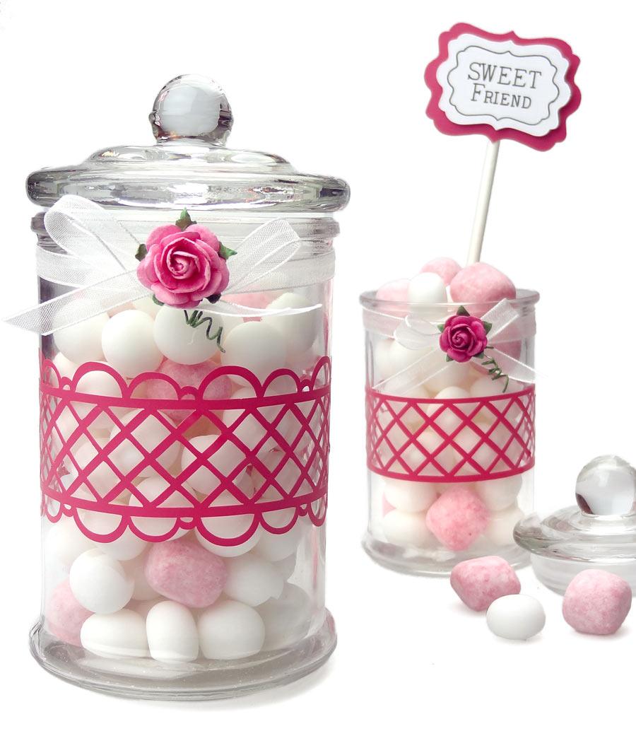 vinyl decorated glass treat jars pazzles craft room. Black Bedroom Furniture Sets. Home Design Ideas