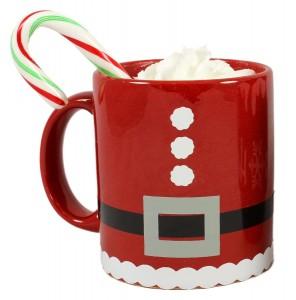 Vinyl Christmas Mug Santa