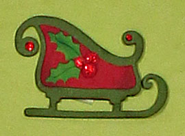 Vinyl Christmas Tree Advent Calendar Sleigh