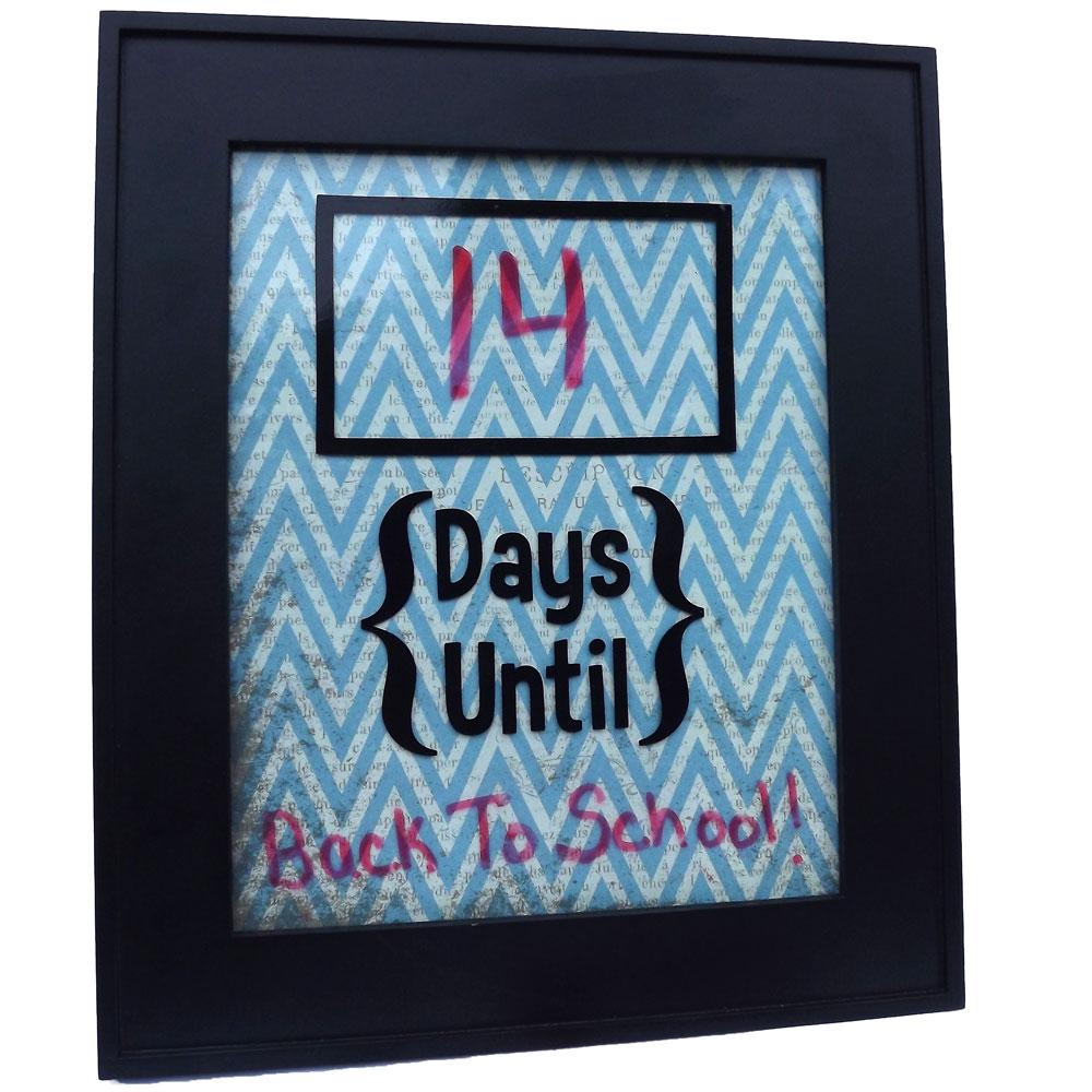 Vinyl Countdown Calendar