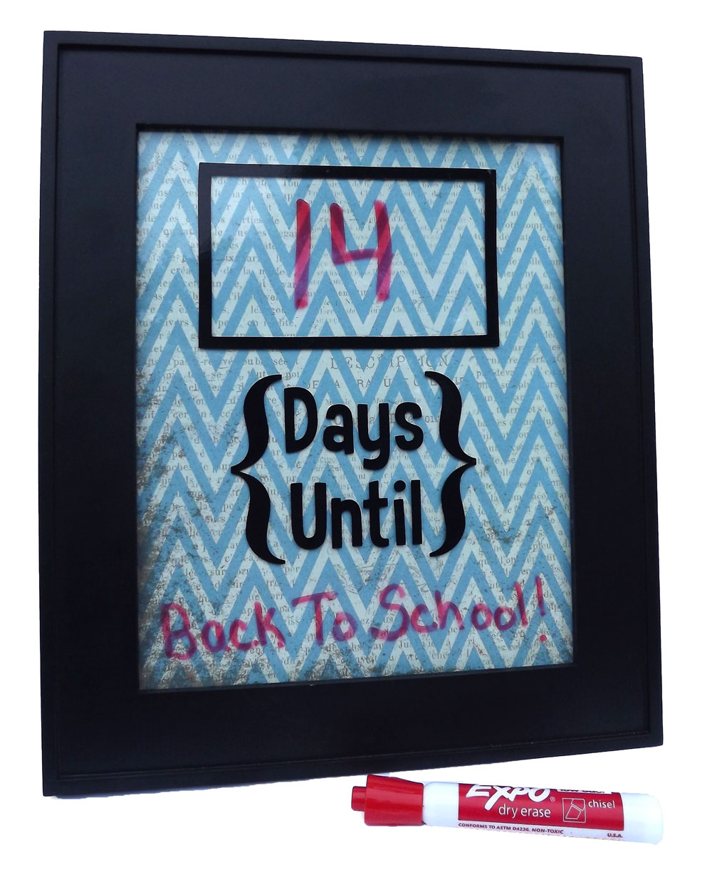 Vinyl Framed Countdown