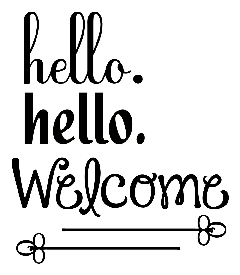 Vinyl Hello Welcome Pazzles Craft Room