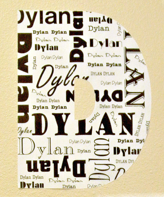 Wall Washi Subway Art Dylan Monogram