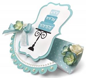 Wedding Cake Birthday Cake Rocker Card by Joanna Wright