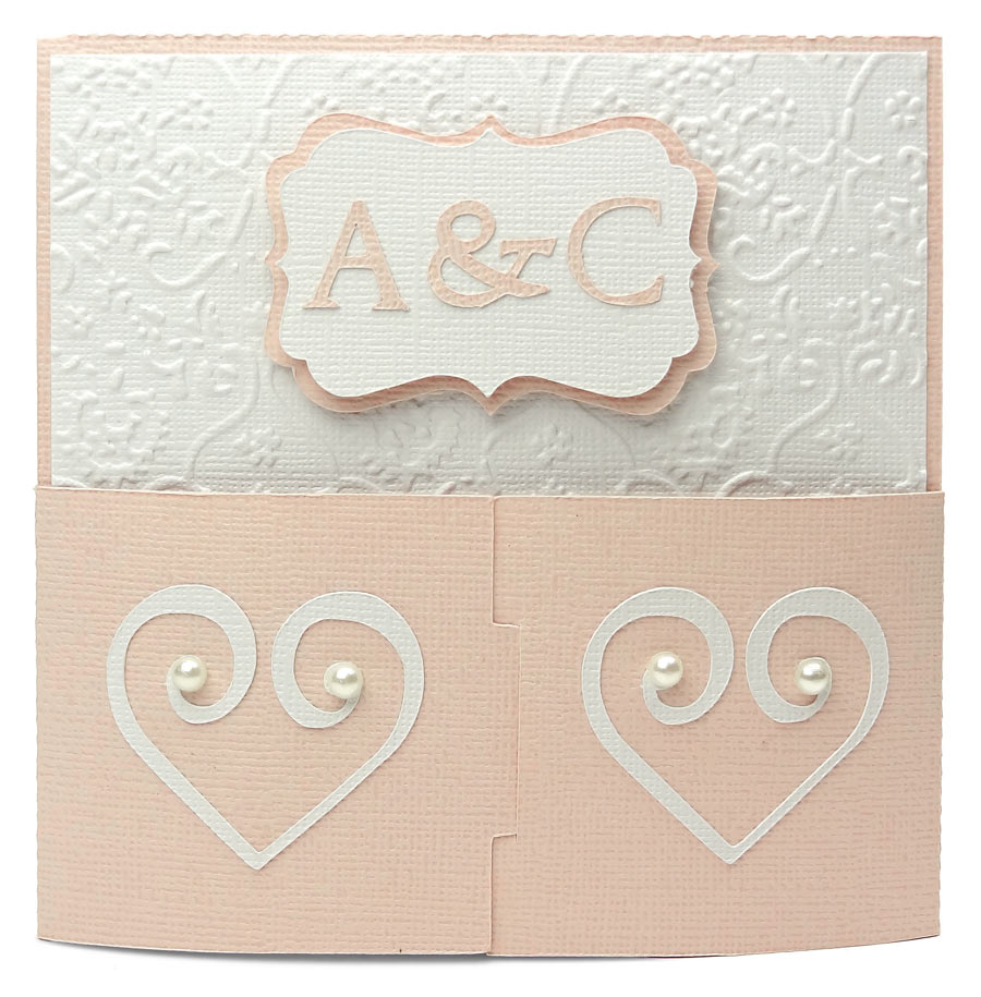 Wedding Tabbed Gate Fold Card Front by Joanna Wright