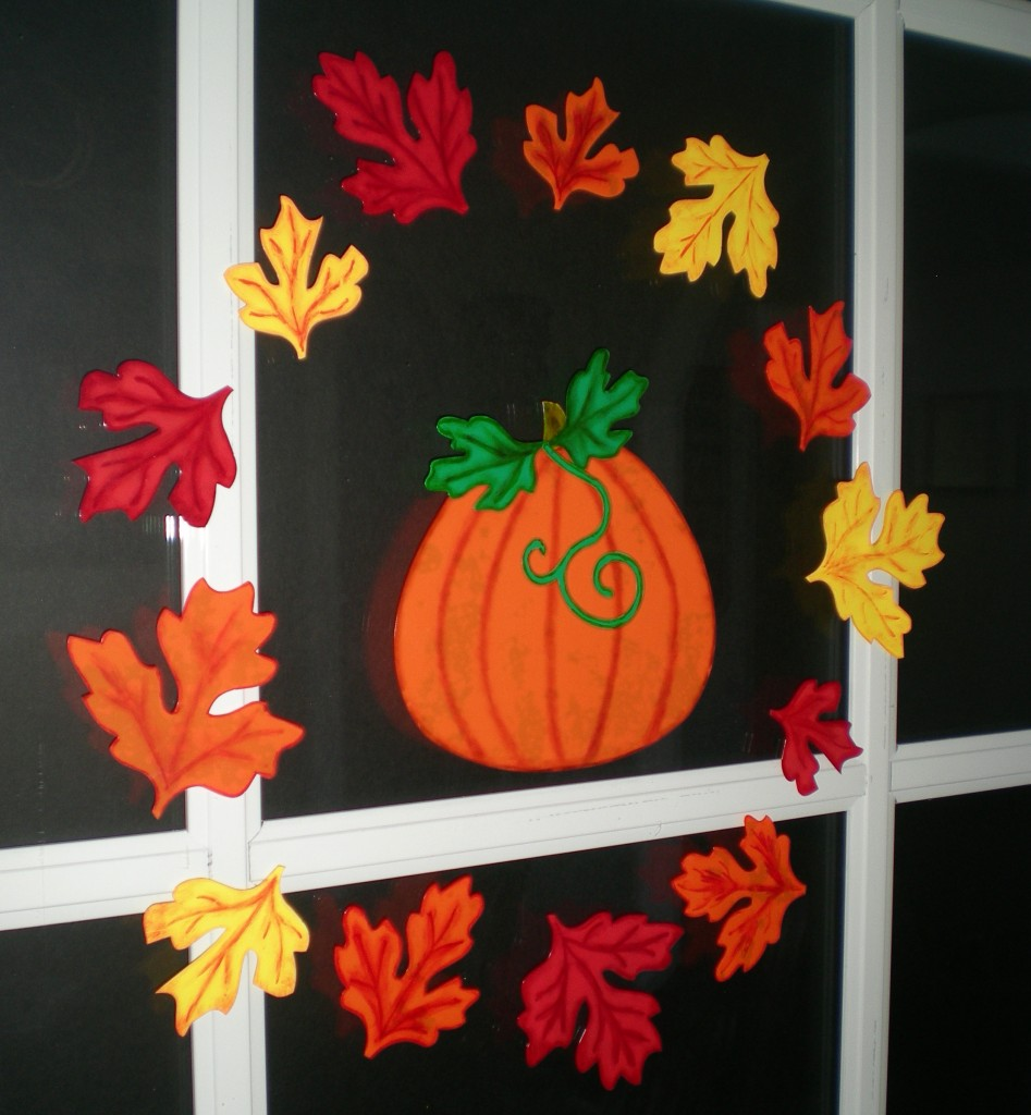 Decorate for fall with pazzles window cling pazzles - Window decorations for fall ...