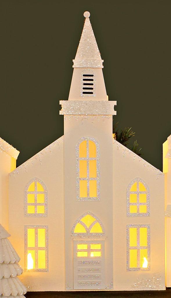 Winter Holiday Village Church