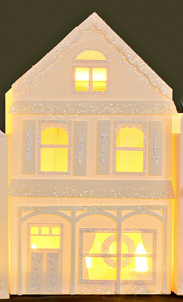 Winter Holiday Village Victorian House