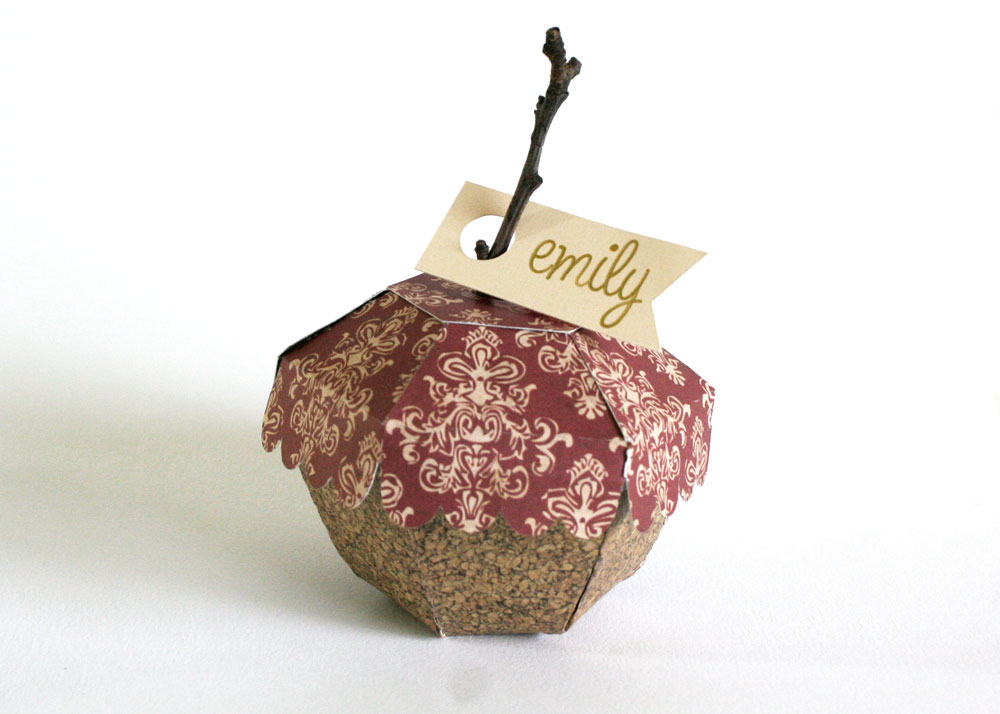 Acorn Place Cards Box