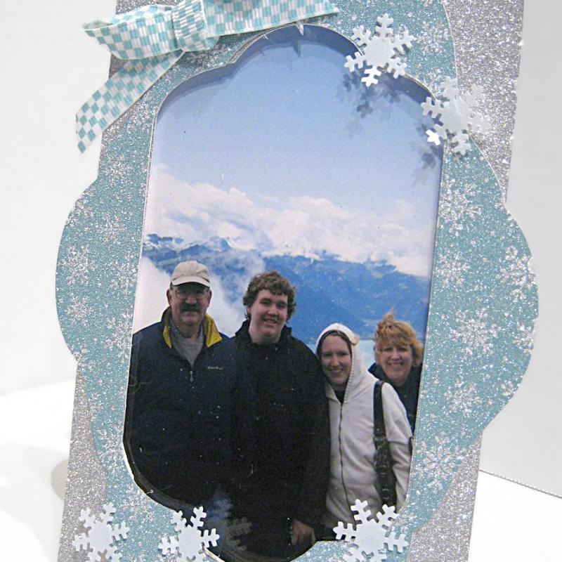 Acrylic Snowflake Frame