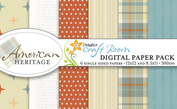 Pazzles American Heritage Digital Paper for the Fourth of July with instant download.