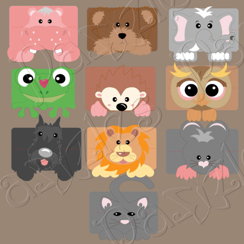 Animal Lunch Sack Treat Toppers Collection