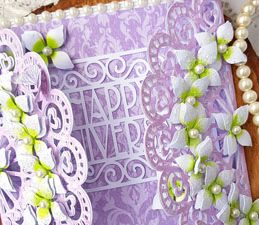Pazzles DIY Lace Gatefold Anniversary Card by Nida Tanweer